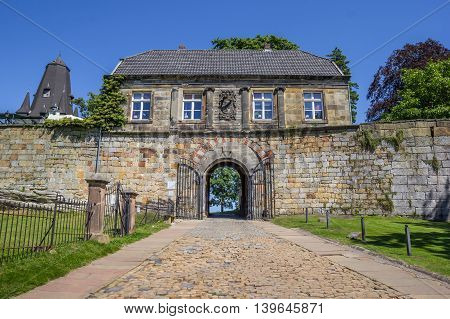 Entrance House Of The Hilltop Castle In Bad Bentheim