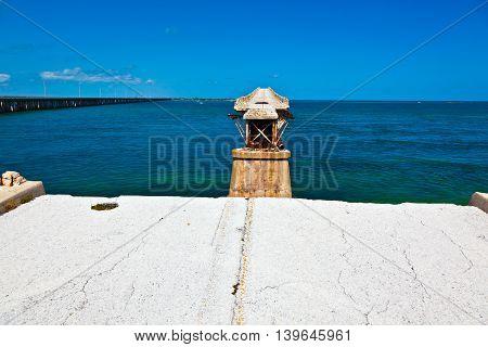 Old Railroad Bridge On The Bahia Honda Key In The Florida Keys