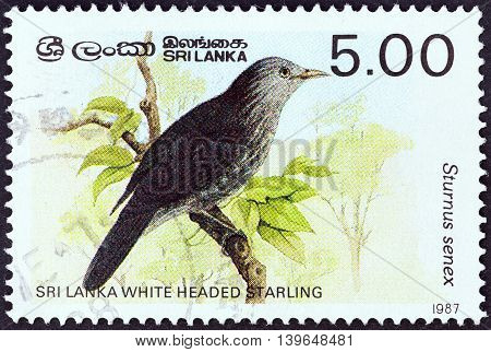 SRI LANKA - CIRCA 1987: A stamp printed in Sri Lanka from the