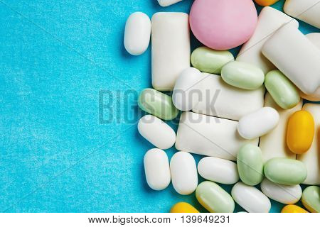 Different Chewing Gums, Mint Candies