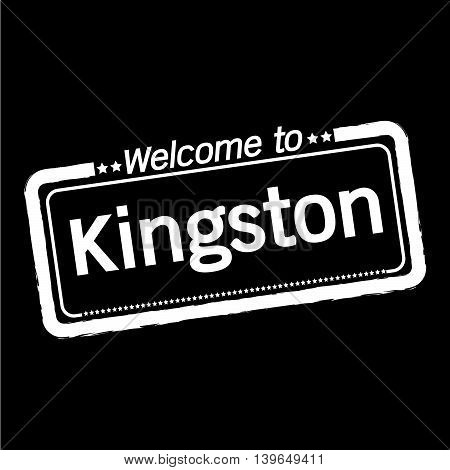 an images of Welcome to Kingston city illustration design