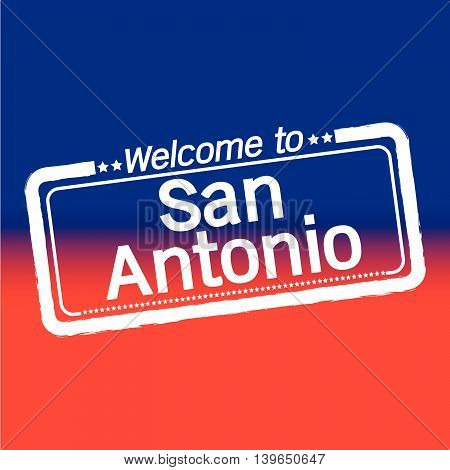 Welcome to San Antonio City illustration design