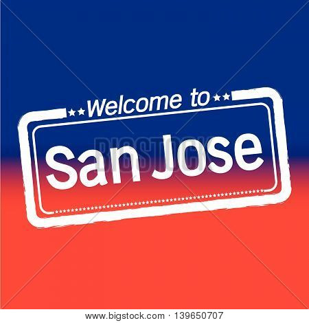 Welcome to San Jose City illustration design