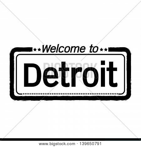 an images of Welcome to Detroit City illustration design