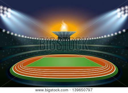 Athletics Stadium. Vector Illustration