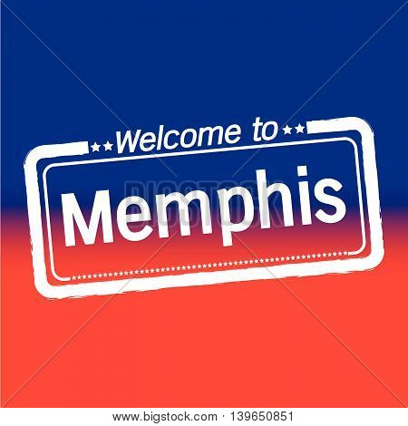 an images of Welcome to Memphis City illustration design