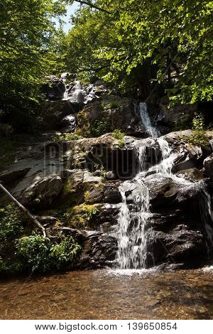 beautiful natural waterfall in Shenandoah National Park
