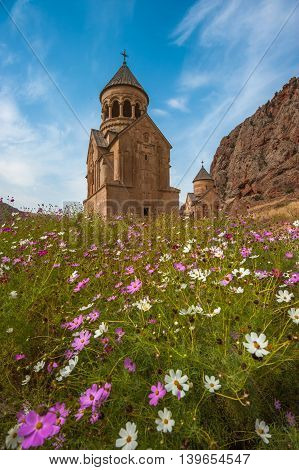 Ancient Monastery Noravank In The Mountains In Amaghu Valley, Armenia