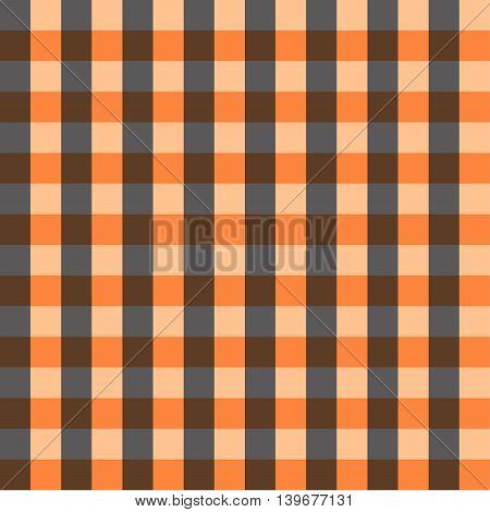 Seamless pattern yellow Orange Chessboard Background Vector Illustration