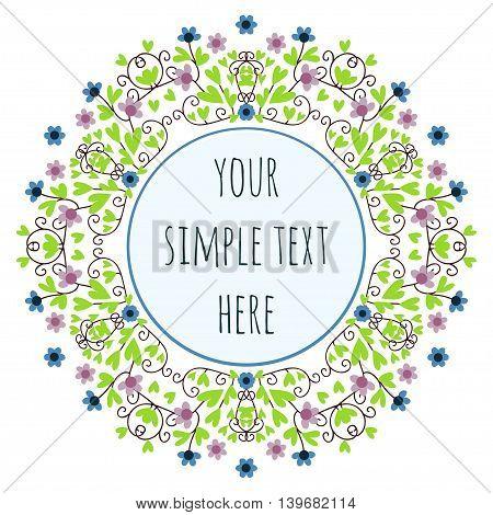 The original circular floral frame for text message.