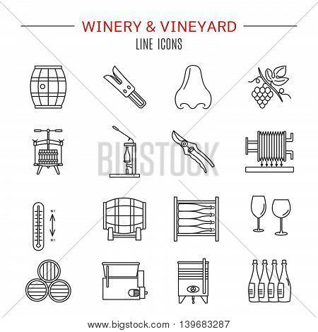 Winemaking, Wine Tasting Graphic Design Concept