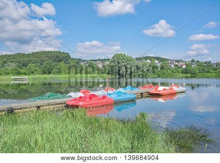 idyllic Place in Stahlhofen am Wiesensee in Westerwald Lake District,Rhineland-Palatinate,Germany