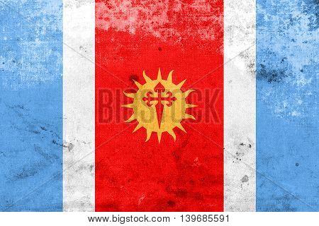 Flag Of Santiago Del Estero Province, Argentina, With A Vintage