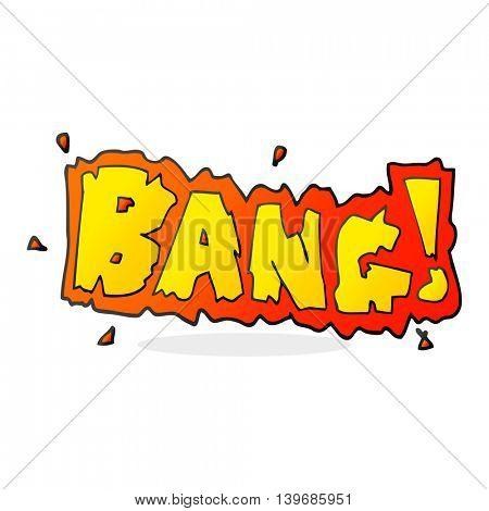 freehand drawn cartoon bang symbol poster