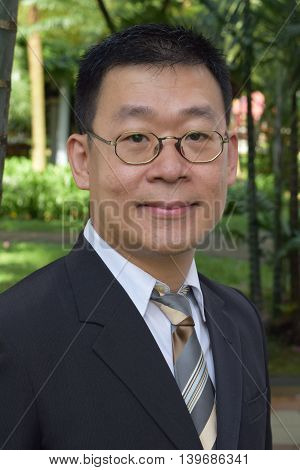 Portrait of a mature asian business man