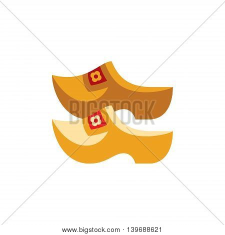 Holandaise Clasps Flat Bright Color Primitive Drawn Vector Icon Isolated On White Background poster
