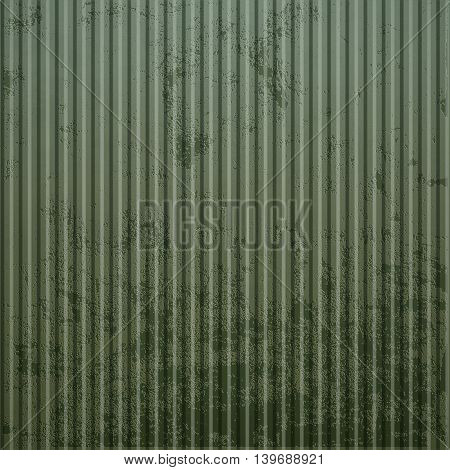 Texture of old rusty corrugated metal. Industrial background. Stock vector illustration.