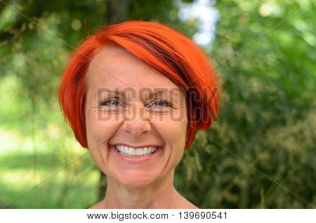Vivacious Middle-aged Redhead Woman