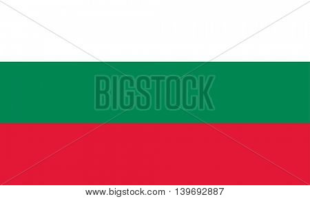 Vector Republic of Bulgaria flag