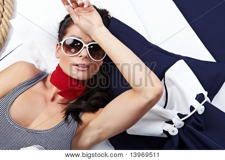Summer Woman and Sailor fashion style