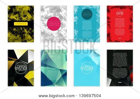 Set of Abstract Flyer - EPS10 Brochure Design Templates