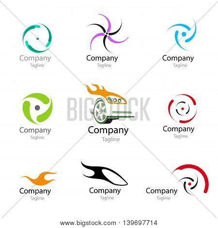 Racing car wheel Icon Inspiration. Wheel symbol. Logo. Vector illustration.