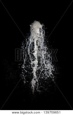 Clear water thrusting into the air by pressure.