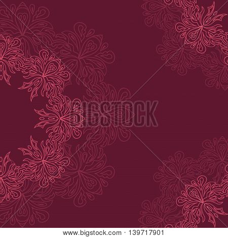 Ornamental round organic pattern circle background with many details can be used for wallpaper pattern fills surface textures round ornamental natural doily pattern decor wine decoupage.