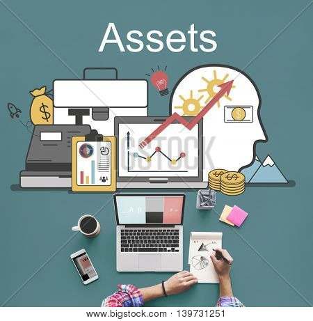 Assets Accounting Money Financial Concept poster