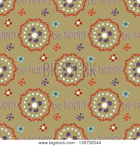 Seamless Floral Pattern For Patchwork