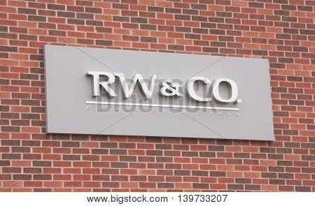 DARTMOUTH CANADA - JULY 24 2016: RW & CO. is a clothing and accessories retailer and is a subsidiary of Reitmans with approximately 68 stores across Canada.