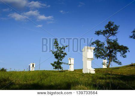 Calvary In Hercegkut - White Chapels