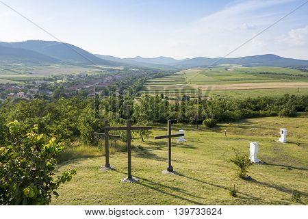 Hercegkut Near Sarospatak Calvary In Hungary