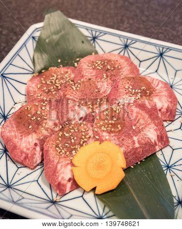 wagyu beef rib premium Japanese  meat BBQ yakiniku