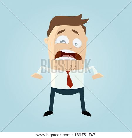 stressed businessman with flickering eye