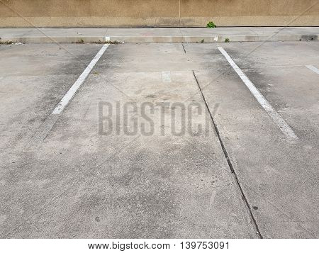 Slot of car parking outside of building