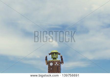 Robot World Sky Background Concept