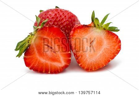 strawberry natural vegetable  fruity on white background