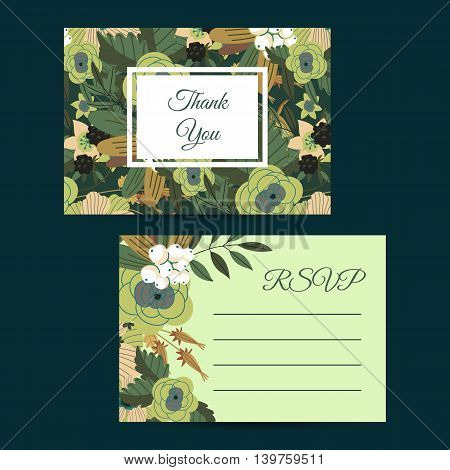 Flowers invitation design template vector photo bigstock flowers invitation design template to celebration on business card with flower decoration vector illustration vintage junglespirit Gallery