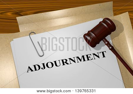 Adjournment - Legal Concept