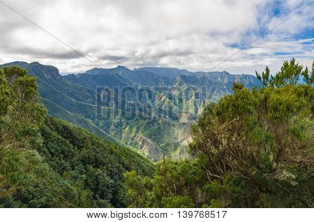 Anaga mountains view from Mirador Cabezo del Tejo Tenerife island Spain
