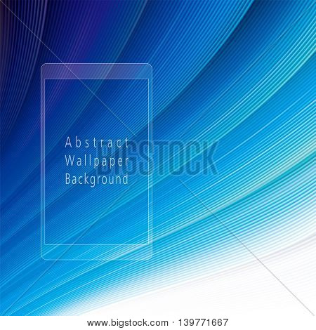 Abstract blue textured stripe wallpaper background.