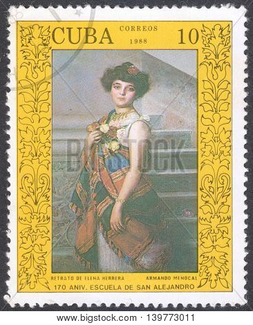 MOSCOW RUSSIA - CIRCA FEBRUARY 2016: stamp printed in CUBA shows