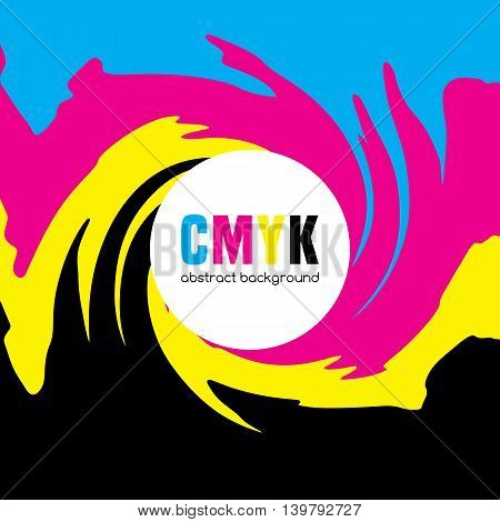 Abstract background in CMYK colors. Vector illustration