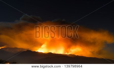 Smoke Plume Of Sand Fire