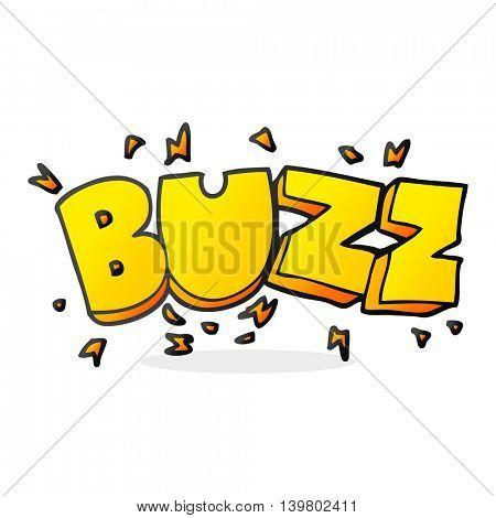 freehand drawn cartoon buzz symbol