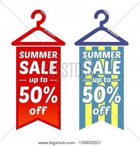 Vector stock of cloth hanger summer sale discounts icon