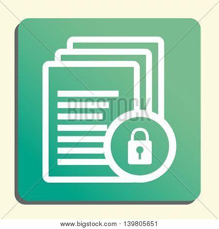 Files Lock Icon In Vector Format. Premium Quality Files Lock Symbol. Web Graphic Files Lock Sign On