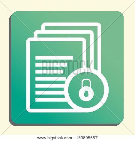 Files Lock Close Icon In Vector Format. Premium Quality Files Lock Close Symbol. Web Graphic Files L