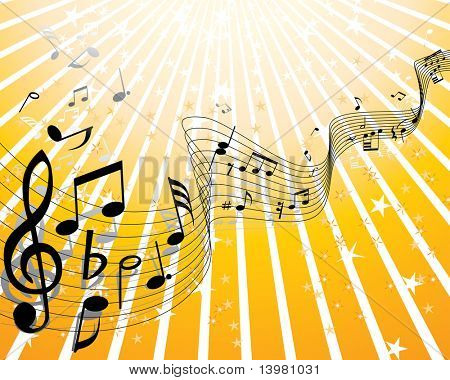 Christmas (New Year) music party theme. Vector illustration.